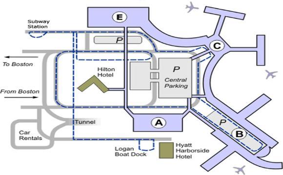 Logan Airport Map